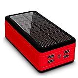 AEU Batterie Externe Chargeur Solaire 50000mah Power Bank Chargeur Portable Batterie de Secours...