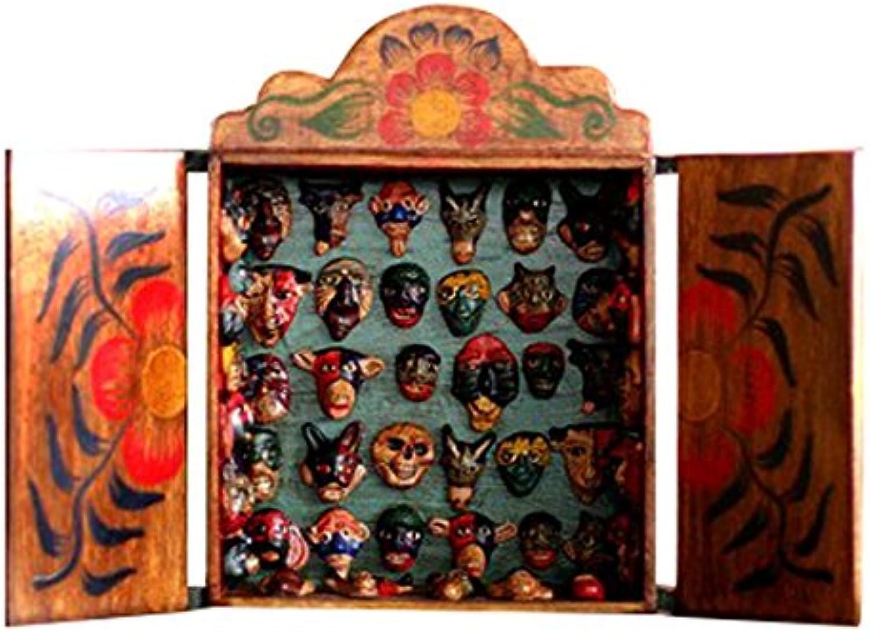 NOVICA 84103  Mask Collection Wood Retablo