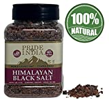 Pride Of India - Himalayan Black Salt - Coarse Grind, 1 Pound (16oz) Jar - Kala Namak - Contains 84+ Minerals - Use in grinders, restaurants & cooking - Perfect for Faux Egg Recipes & Vegan Scramble