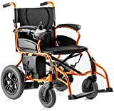 Las últimas Deluxe Silla de ruedas eléctrica plegable y ligero, portátil ultraligero Vespa vieja generación, Inteligente Asistida silla de ruedas silla de ruedas automática asistida [POTENCIAR]