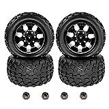 4pcs RC Crawler Truck Tires and Wheel Rim Set w/Foam Insert 12mm...