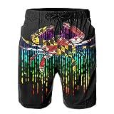 Maryland Flag Crab Rainbow Mens Swim Trunks Quick Dry Waterproof...