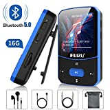 MP3 Player, RUIZU 8GB Clip MP3 Players with Bluetooth 5.0, Portable Mini HiFi Lossless Sound Music Player for Running Workout, with FM Radio Voice Recorder E Book, Expandable up to 128 GB