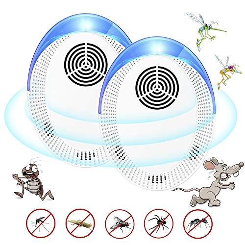 BLAZOR Repelente Ultrasónico de Plagas,Repelente Mosquitos de Insectos Seguro y Silencioso, Ahuyentador de Ratones Portátil de Control de Plagas contra Cucarachas, Hormigas, Ratones, Roedores