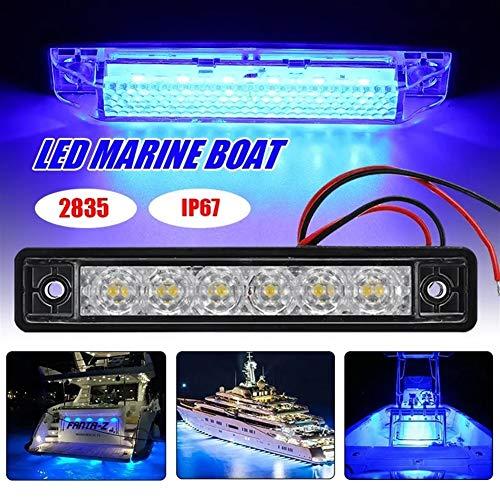 Luz de búsqueda marina, Luces LED Marine 2835 Cubierta de navegación arqueamiento del barco sumergible esparcidor de la lámpara 12V de Waterpoof (Color : Blue)