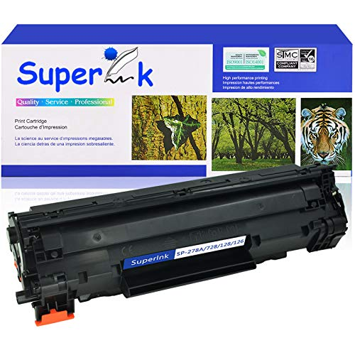 SuperInk 1 Pack Compatible Replacement for Canon 126 CRG126 3483B001AA Toner Cartridge use in ImageClass LBP6200d Printer
