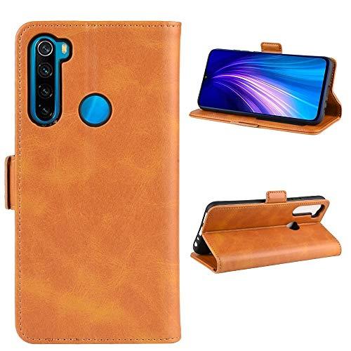 La selección de Cici For Xiaomi redmi Nonte 8T Doble Hebilla Caballo Loco de Negocios del teléfono móvil de la pistolera con Tarjeta de la función del Soporte Wallet (Negro) (Color : Yellow)