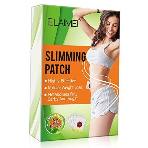 Slimming Patch, Abnehmen Patch, Natural Weight Loss Sticker Fettverbrenner für Bierbauch, Eimer, Taille, Bauch (30 Pcs)