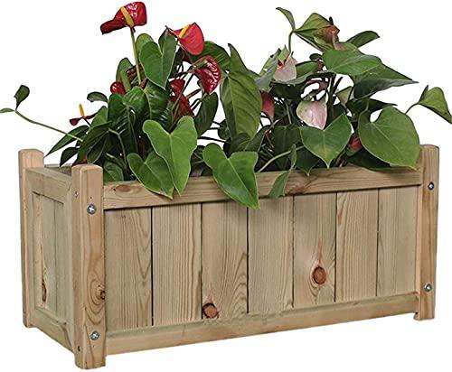 縦断勾配 Raised Planters for Garden Anticorrosive Wood Flower Pot Raised Garden Bed Planting Outdoor Solid Trough