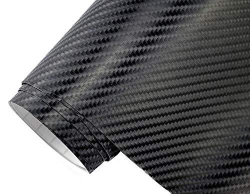 4,5€/m² Auto Folie - 4D Carbon Folie schwarz 200 x 150 cm selbstklebend BLASENFREI flexibel Car Wrapping Klebefolie