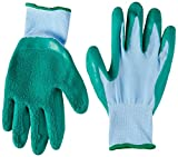 HOMWE Gardening Gloves for Women and Men- Texture Grip -Three Pair Pack - Medium, Small (Medium, Green)