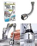 takestop Ducha larga articulada 360 grados 15 cm tubo Art_52327 flexible con filtro aireador para grifo de cocina