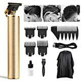 Hair Clippers Electric Pro Li Outliner Professional Cordless Hair T-Blade Trimmer Hair Clippers for Men Zero Gapped Trimmer Baldhead Beard Shaver Barbershop