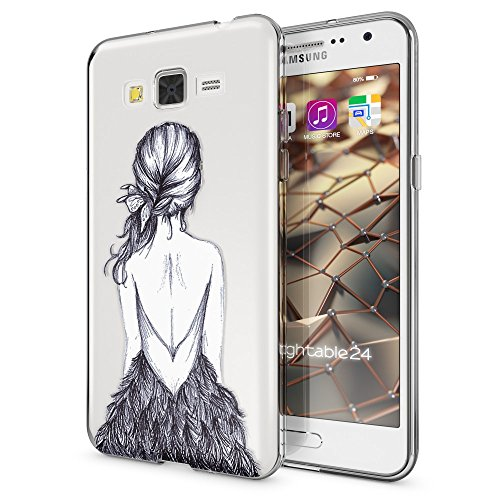 NALIA Funda Carcasa Compatible con Samsung Galaxy Grand Prime, Motivo Design Movil Protectora Fina Carcasa Silicona Cubierta, Goma Estuche Telefono Bumper Cover Case, Designs:Bird Princess