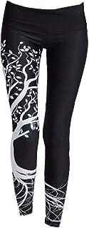 BaZhaHei-Pantalones de mujer, BaZhaHei Mujer Pantalones Largos Deportivos Patrón de árbol Leggings para Running Yoga y Ejercicio Mallas Deportivas ImpresióN De áRbol Deporte Fitness Gym Pantalon EláSticos Running
