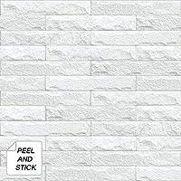 NextWall Limestone Brick Peel and Stick Wallpaper
