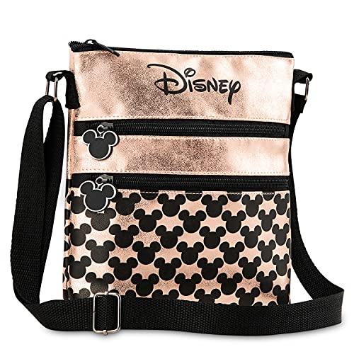Disney Umhängetasche Damen und Teenager, Mickey Mouse und Minnie Mouse Tasche Damen, Kleine Umhängetasche Damen (Roségold)