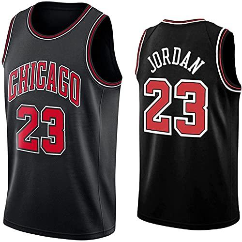 ALXLX Nba Jersey Chicago Bulls #23 - Chaleco de manga de ventilación de secado rápido, color negro - L/L