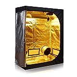TopoGrow D-Door 60'X32'X80' Indoor Grow Tent Room 600D Mylar High Reflective W/Plastic Corners