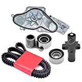 Engine Dancer 5PCS Timing Belt Kit with Water Pump TKH-002 Compatible with 2003-2018 Acura and Honda - MDX RDX RL TL TLX TSX Accord Odyssey Pilot Ridgeline 3.5L 3.7L Engine