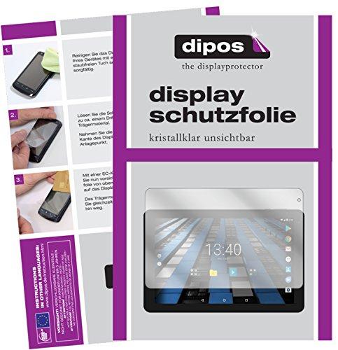 dipos I 2X Schutzfolie klar kompatibel mit Archos Diamond Tab Folie Bildschirmschutzfolie