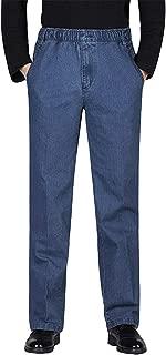 mens elastic waist pants with belt loops