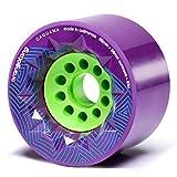 Orangatang Caguama 85 mm 83a Downhill Longboard Skateboard Cruising Wheels (Purple, Set of 4)