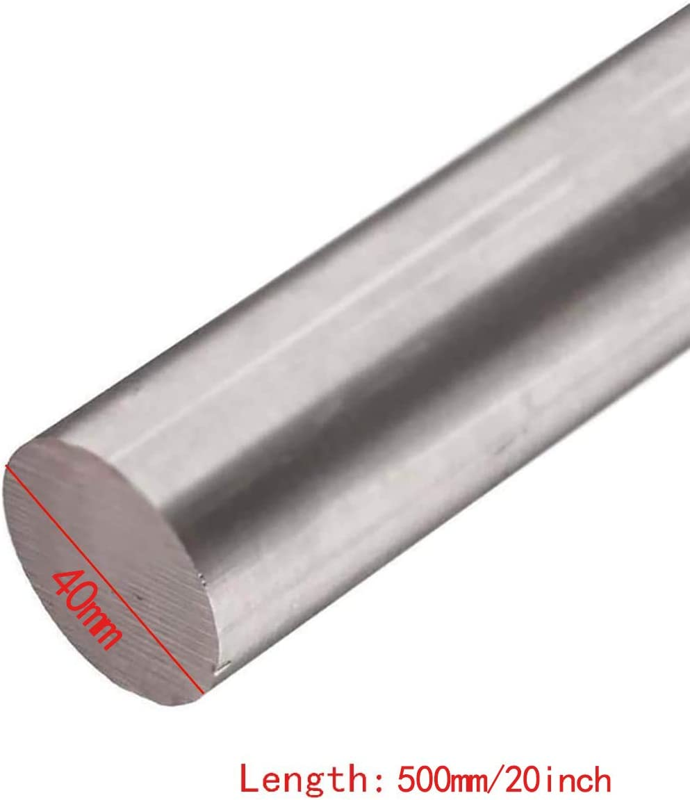 SQINAA Titanium Round Rod 50x500mm 1 Pieces Metal Titanium Shaft Rod for Aerospace Chemical Shipbuilding Industries,50x500mm