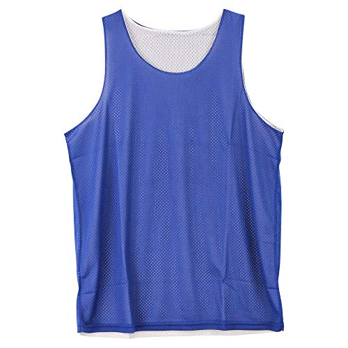 Urban Boundaries Reversible Basketball Jerseys Pinnies for Men and Youth (Blue/White, Adult Large)