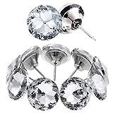 Kyrio Rhinestone coser botones de cabeza de cristal tachuelas para tapicería de uñas diamante decorativo para sofá cama cabecero de pared manualidades DIY decoración (30 mm)