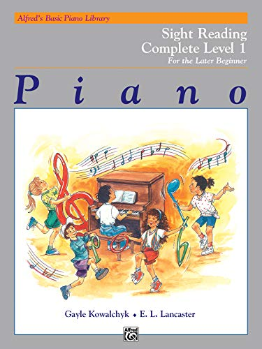 Alfred's Basic Piano Library Sight Reading Book Complete, Bk 1: For the Later Beginner (BK 1A)