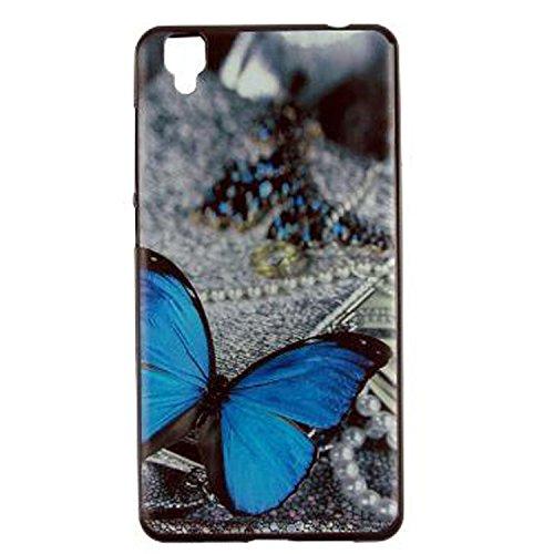 Yrlehoo Für Bluboo Maya, Premium softe Silikon Schutzhülle für Bluboo Maya Tasche Hülle Cover Hülle Etui Schutz Protect, Schmetterling