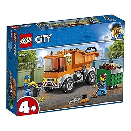 LEGO60220CityCamióndelaBasuraJuguetedeConstrucciónparaNiñosyNiñas+4añoscon2MiniFiguras