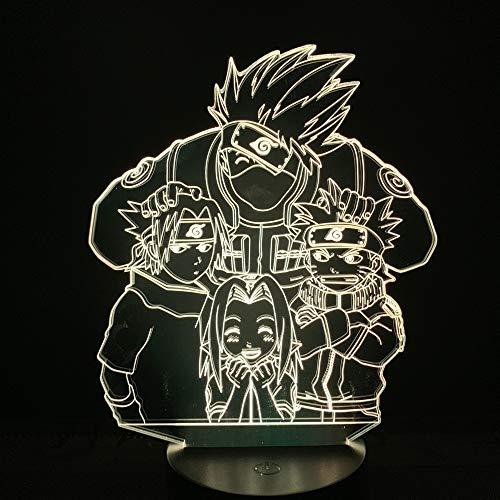 Kakashizo Ayuda a los cerezos en Flor Luz de Noche Japonesa Sensor de Amistad Luz de Noche Lámpara de luz de Dibujos Animados Niños