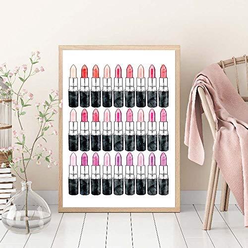 Quadro Mode Roze Lippenstift Poster Vogue Canvas Schilderij Muur Pop Art Nordic Posters En Prints Meisje Modern Decor Voor Thuis B 40x60cm Geen Frame
