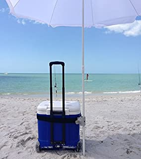 Strap Shade: #1 Recommended Best Beach Umbrella Holder Clip – 15x More Steady & Easy to Use than Sand Anchors – Universal & Secure Fit with Non-Slip Rubber Surface – Hassle & Damage Free