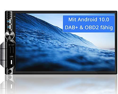 Tristan Auron BT2D7019A Android 9.0 Autoradio I 7'' Touchscreen Bildschirm I mit Navi GPS I Bluetooth Freisprecheinrichtung I Quad Core USB SD OBD 2 DAB+ - 2 DIN