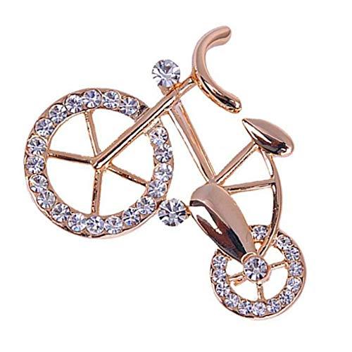 N-K PULABO Female Banquet Wedding Buckle Bicycle Crystal Brooch Women Girls Mini Bike Brooch Pin Sturdy and Practical Delicate