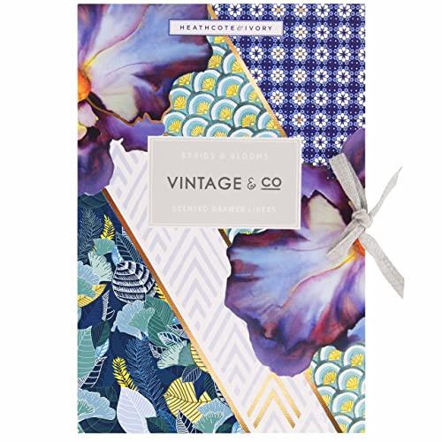 Vintage & Co Tresses et Fleurs pour tiroir (6 Feuilles).