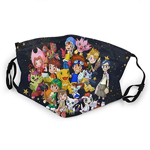 Face Mask Digi-mon,Digital-Monster Child Kids Mask with Filter Mouth-Masks UV Protection Health Dust Masks Black