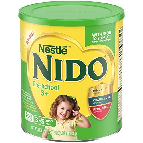 Nestle NIDO PreSchool 3 Whole Milk Powder 1.76 lb. Canister Powdered Milk Mix