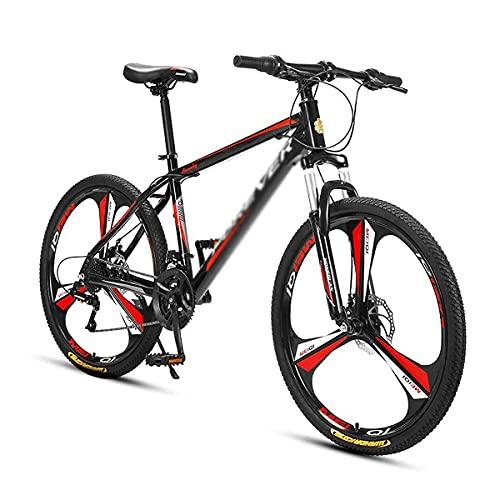 Bicicleta de montaña para Adultos Ruedas de 26 Pulgadas para Hombres, Mujeres, Marco de Acero al Carbono, Engranajes de 24/27 velocidades con Frenos de Disco (tamaño: 24 velocidades, Color: Azul)