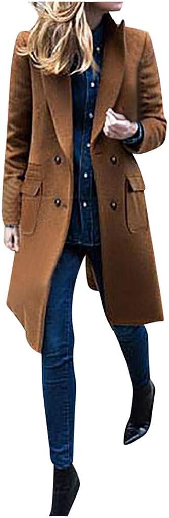 Women Plus Size Lapel Wool Max 62% OFF Jack Pocket Windbreaker National uniform free shipping Coat Big