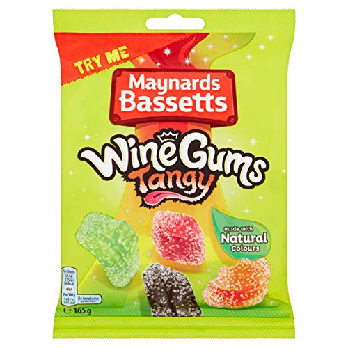 Maynards Bassetts Wine Gums Tangy 165g