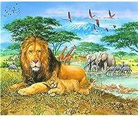 3000ピースの大人のパズル、アフリカの草原の動物の各ピースはユニークです。テクノロジーは、各ピースを完全に組み合わせることができることを意味します