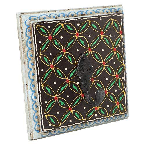 Casa Moro   Percheros para abrigos pintados a mano - Percheros para abrigos de estilo indio tallados a mano - Percheros para abrigos hechos a mano   MA10-01-C