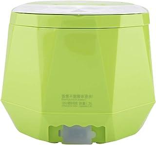 Olla arrocera portátil, 12V 100W 1.3 L Vaporera eléctrica multifuncional para automóviles y hogar(verde)