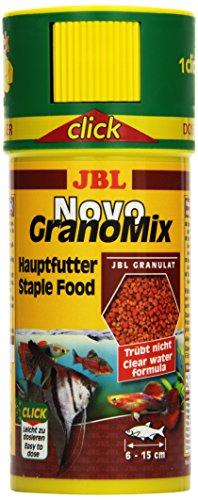 JBL NovoGranoMix 30101, Alleinfutter für große Aquarienfische, Granulat, 250 ml