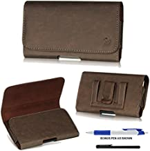 Classic Leather Design Horizontal Belt Clip Magnetic Closing Flap Side Holster Pouch Case for iPhone 6 (4.7 inch) + A Bonus 4