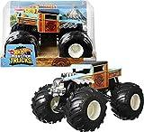 Hot Wheels Monster Trucks Bone Shaker Coche de juguete todoterreno, regalo para niños +3 años (Mattel GWL05)